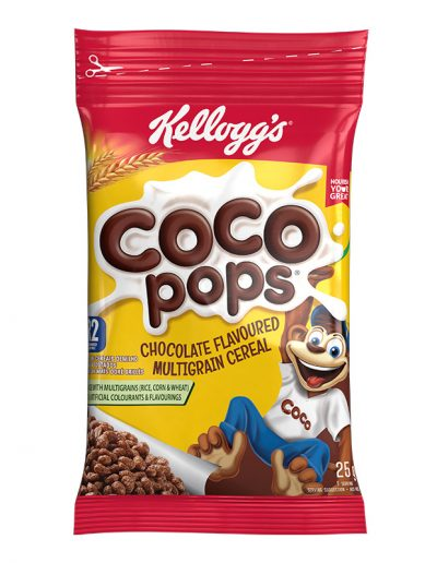 Kelloggs Coco Pops 25g Packet 3D Product Photo